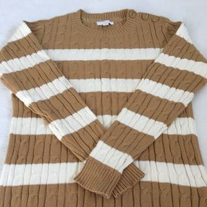 Charter Club Tan and Cream Sweater